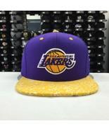 Mitchell & Ness NBA Los Angeles Lakers Purple Gold Adjustable Snapback 9664 - $23.26