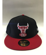 New Era 59Fifty NBA Chicago Bulls 2 Tone Black & Scarlet Fitted Cap  - $34.99