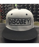 Custom  Disobey Gray Black Adjustable Snapback Cap Hat 13296 - $20.56