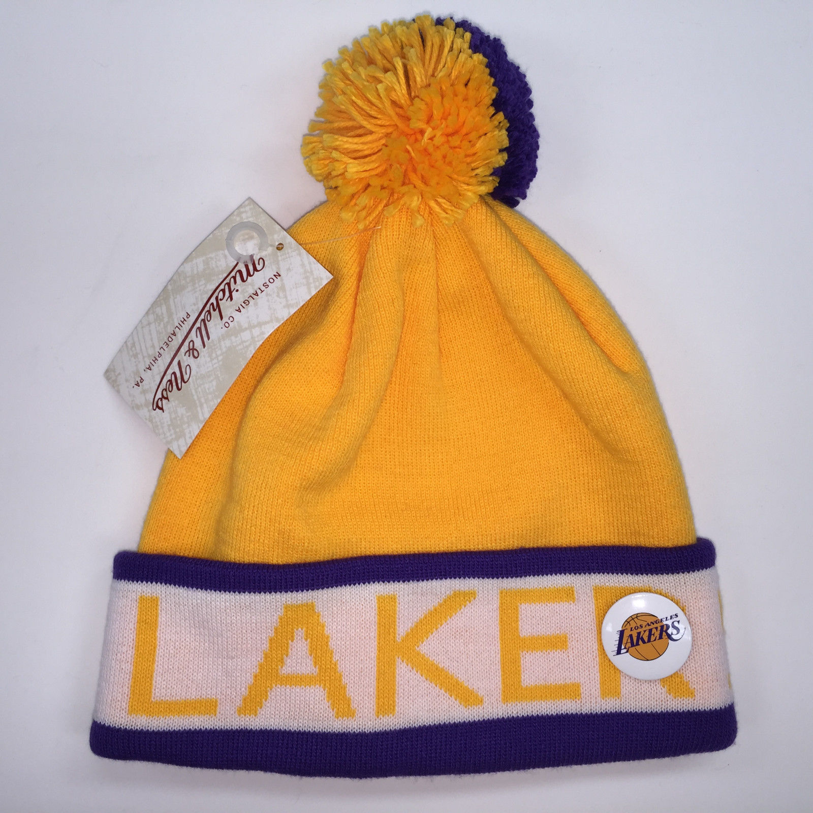 Mitchell & Ness NBA Los Angeles Lakers Vintage Black Pom Knit 9950