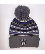Mitchell & Ness NBA Brooklyn Nets Soft Pattern Knit Beanie 11889 - $18.59