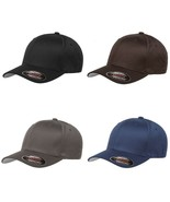 Yupoong Flexfit 6277 Wooly Combed Twill Cap Hat  Blank Plain Curved Base... - $16.99