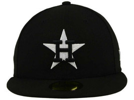 New Era 59Fifty MLB Houston Astros Black and White Fitted Cap  - $34.99