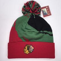 Mitchell & Ness NHL Chicago Blackhawks Cuffed Pom Knit Beanie 10385 - $18.59