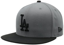 New Era 59Fifty MLB Los Angeles Dodgers Storm Gray/Black  Baseball Fitte... - $34.99