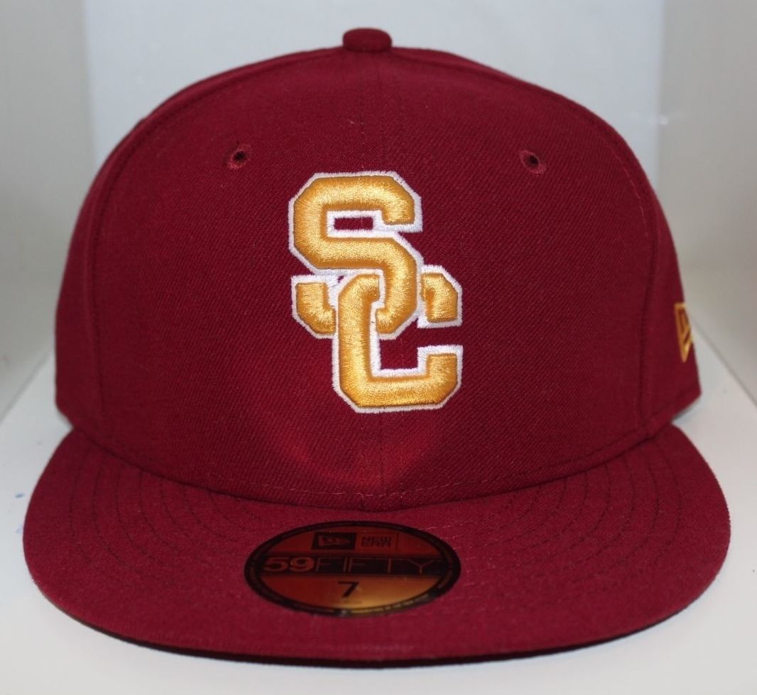New Era 59Fifty NACC USC Trojans College AC Fitted Burgundy Cap Hat