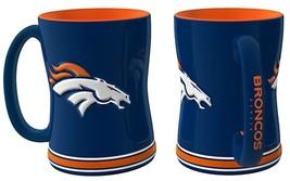 NFL Denver Broncos 15 Ounce Sculpted Logo Relief Coffee Mug - $17.59