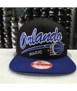 New Era 9FIFTY NBA Orlando Magic Black Blue  Adjustable Snapback  Cap Ha... - $28.04