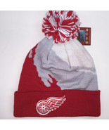 Mitchell & Ness NHL Detroit Red Wings Cuffed Pom Knit Beanie 10382 - $18.59