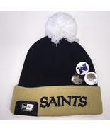New Era NFL New Orleans Saints Button Up Pom Knit Beanie 7264 - $23.36