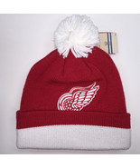 Mitchell & Ness NHL Detroit Red Wings Cuffed Pom Knit Beanie 6317 - $18.59
