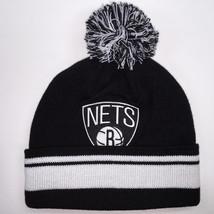 Mitchell & Ness NBA Brooklyn Nets Cuffed Pom Knit Beanie 6314 - $18.59