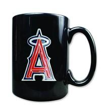 MLB Anaheim Angels 15 Ounce Black Ceramic Coffee Mug - $15.79