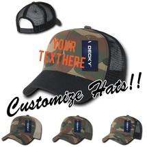CUSTOM EMBROIDERY Personalized Customized Decky Camo Trucker Snapback Cap 1054 - $17.59+