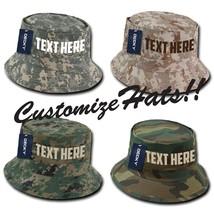 Custom Embroidery Personalized Customized Decky Camo Fishermen's Hat - $17.59+