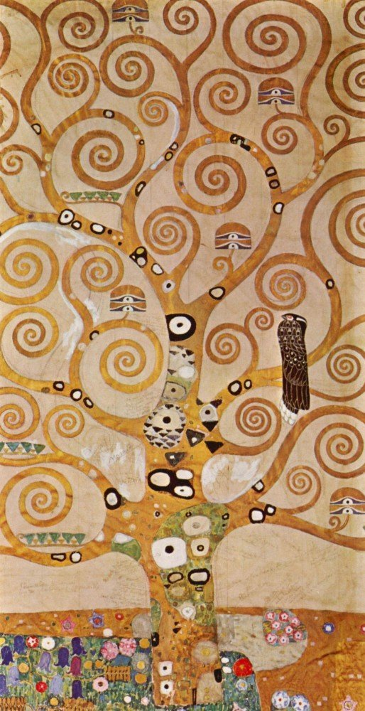 100% Hand Painted Oil on Canvas - Frieze II by Klimt - 30x40 Inch