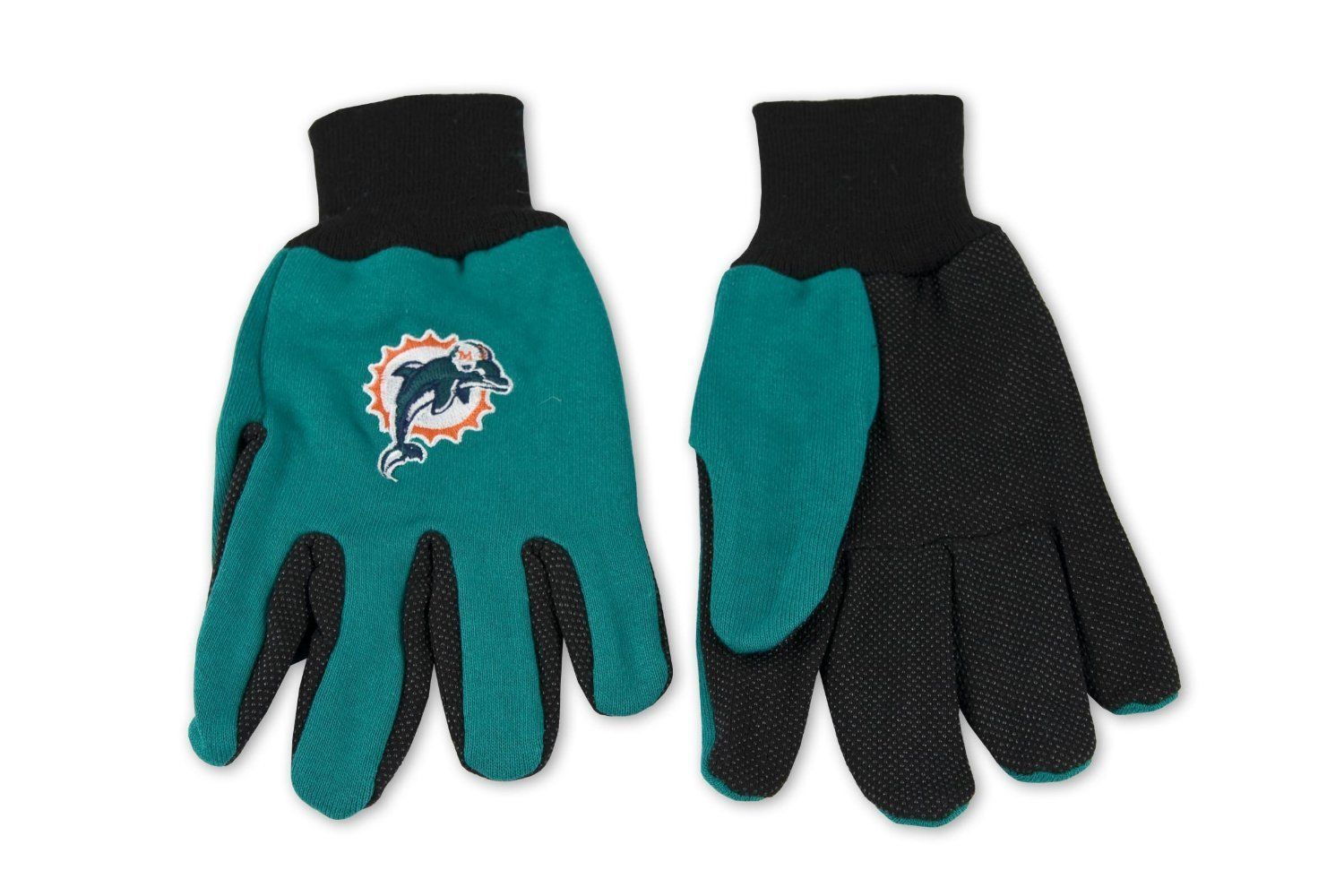 Wincraft NFL Miami Dolphins Two Tone Utility Gloves 6331