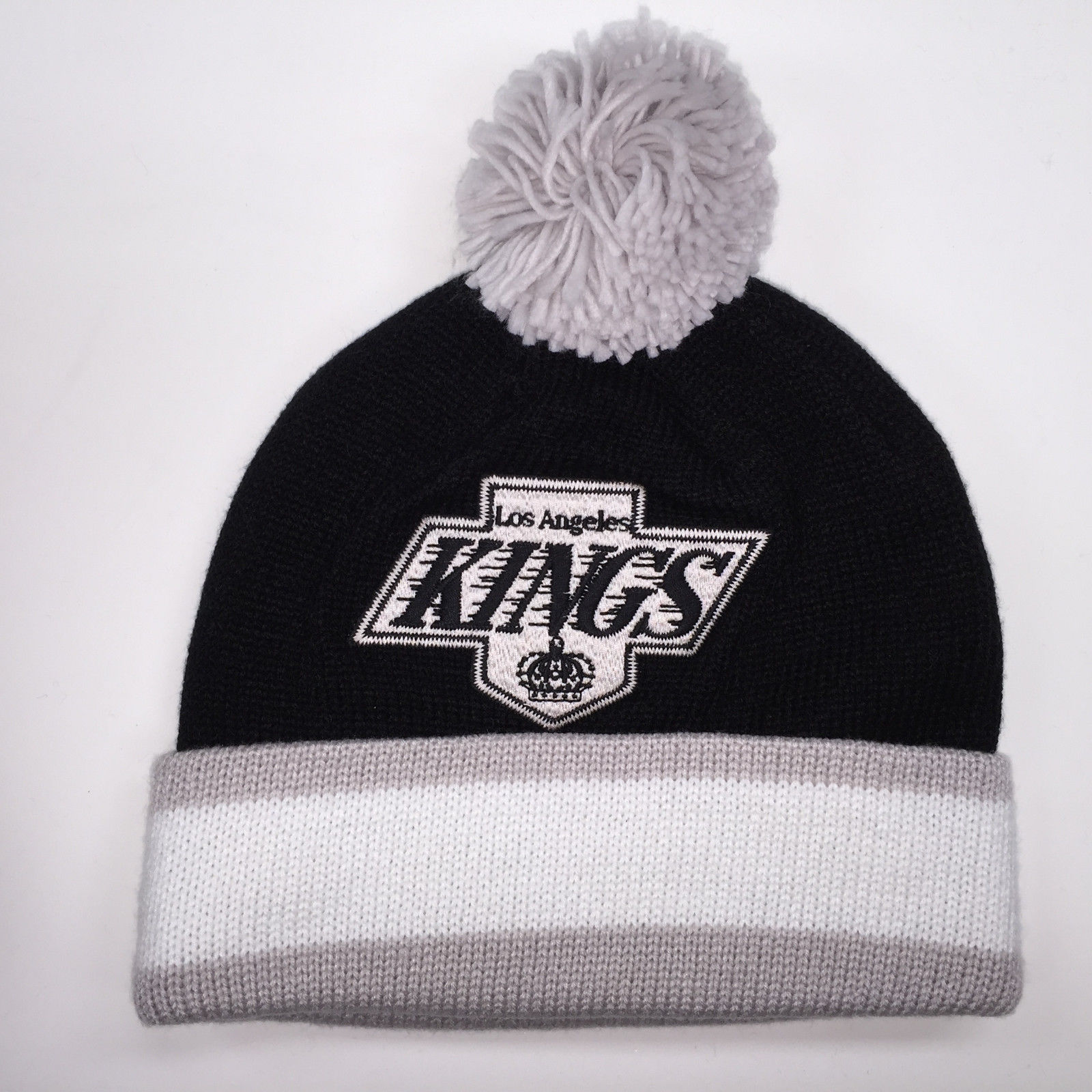 Mitchell & Ness NHL Los Angeles Kings Cuffed Pom Knit Beanie 6318