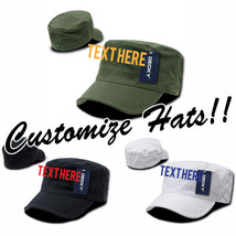 Custom Embroidery Personalized Customized Decky Flex Cadet Snapback Cap 115 - $17.59+
