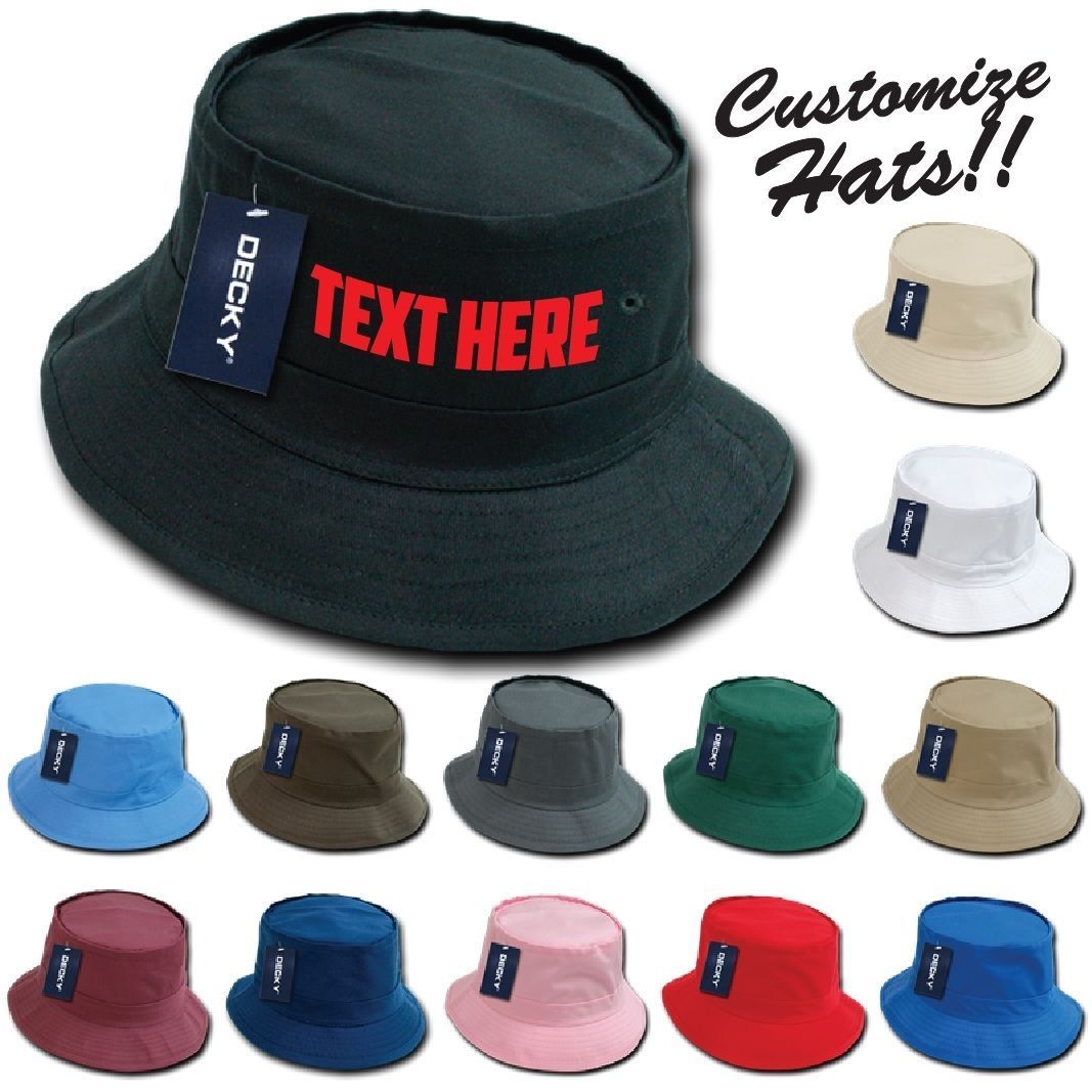 CUSTOM EMBROIDERY Personalized Customized Decky Fishermen's Bucket Hat 450