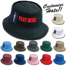 423b1e45 CUSTOM EMBROIDERY Personalized Customized Decky Fishermen's Bucket Hat  450 ...