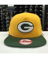 New Era 9FIFTY Green Bay Packers Yellow Green Adjustable Snpaback #11024 - $28.04