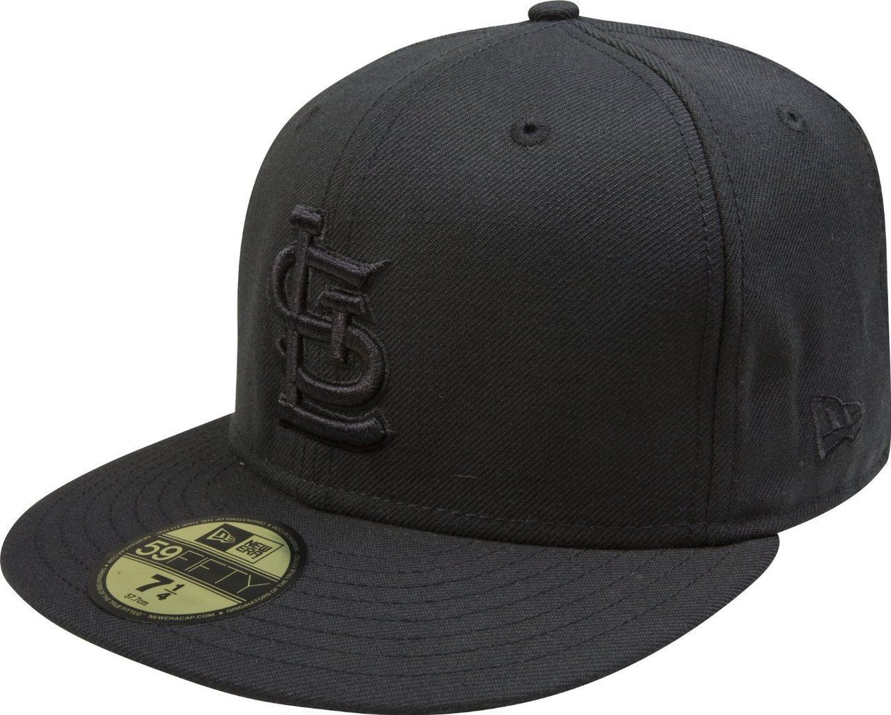 New Era 59Fifty MLB St. Louis Cardinals Black on Black Fitted Cap