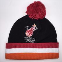 Mitchell & Ness NBA Miami Heat Cuffed Pom Knit Beanie 6313 - $18.59