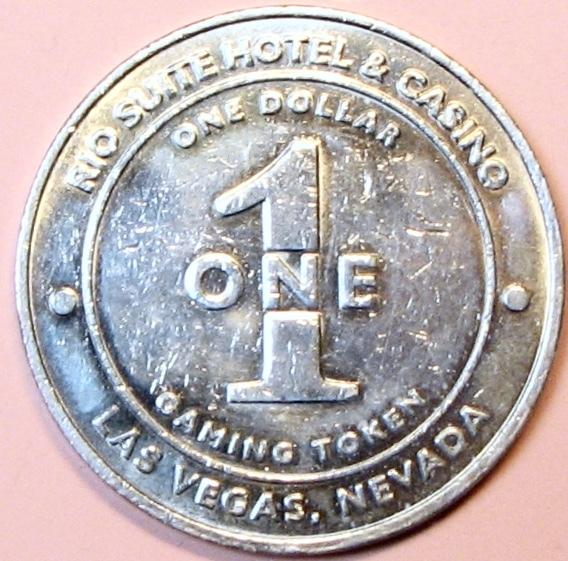 $1 Casino Token. Rio, Las Vegas, NV. 2002. D82.