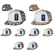 DECKY Ziger White Front Zebra Animal Print Flate Bill Snapback Cap Hat 1061 - $6.99