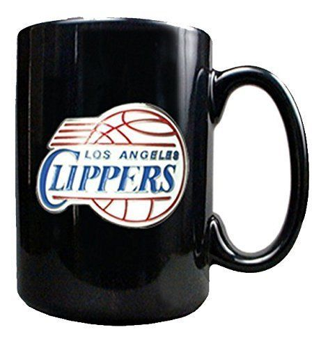 NBA Los Angeles Clippers 15 Ounce Black Ceramic Coffee Mug