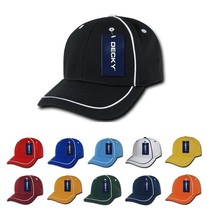 DECKY Blank Performance Mesh Piped Jersey Mesh Baseball snapback Caps Cap 762 - $8.99