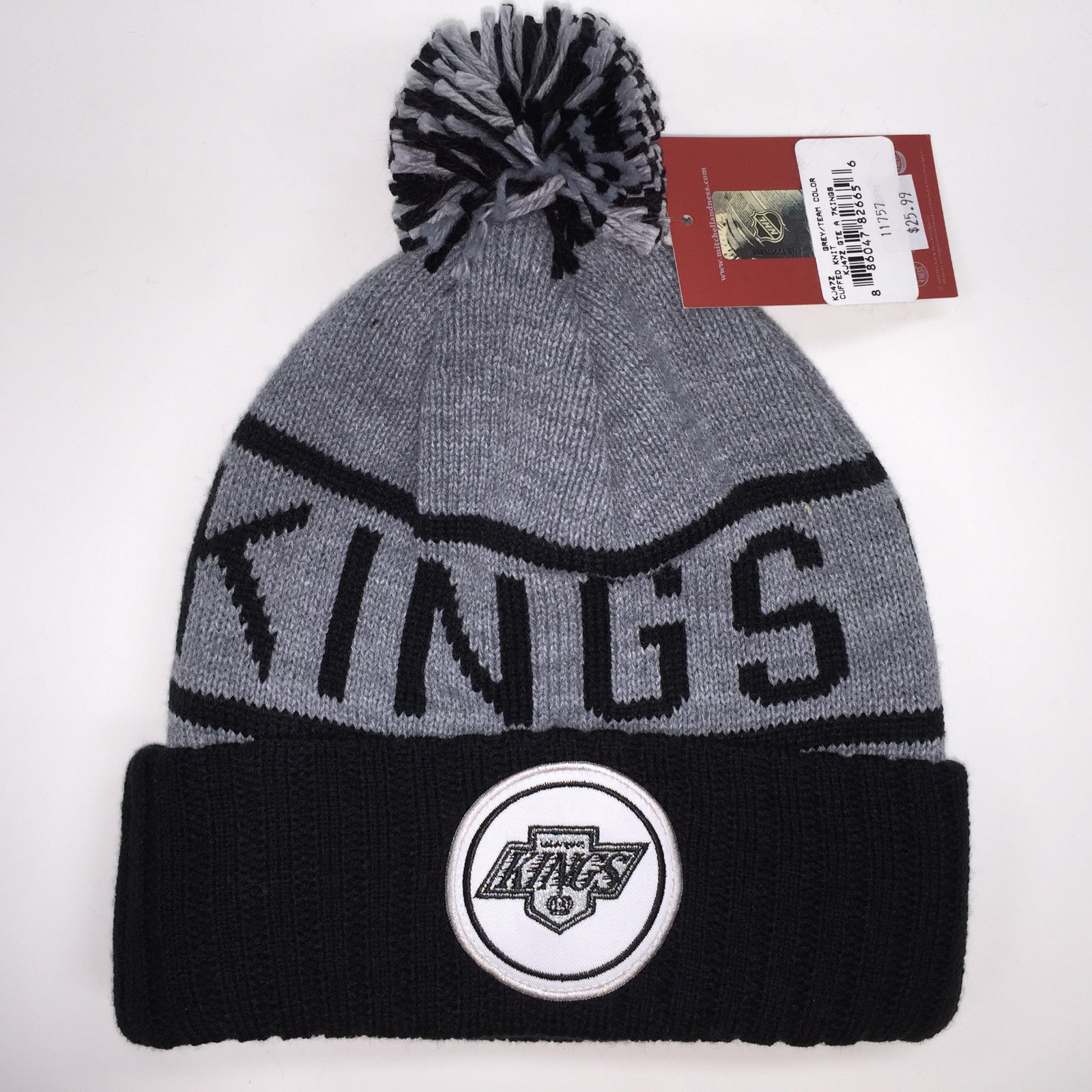 Mitchell & Ness NHL Los Angeles Kings High 5 Cuffed Knit Beanie 11757