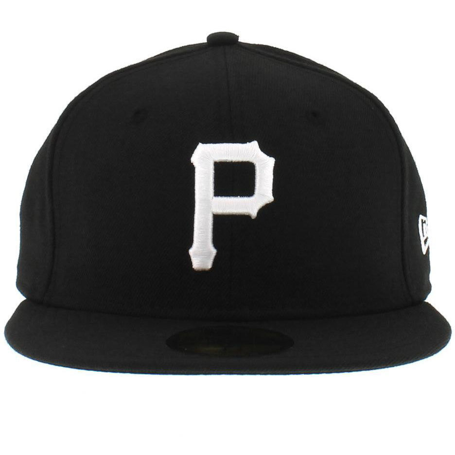 New Era 59Fifty MLB Pittsburgh Pirates Black White Fitted Cap