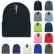 DECKY Plain Blank Long Cuff Beanies Knit Ski Snowboard Winter Caps KC - $5.99