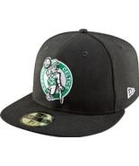New Era NBA Hardwood Classics Boston Celtics Black Fitted Cap  - $29.99