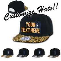 151a81c5 CUSTOM EMBROIDERY Personalized Customized Decky Leopard Snake Snapback Cap  987 - $20.39+