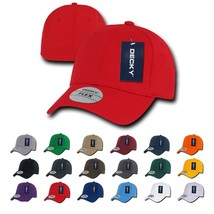 Decky Plain Blank Curved Bill 22 Colors Fitall Flex Fitted Cap Hat 1016W - $8.99