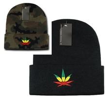 DECKY Weed Graphic Cuff Beanie Knit Hat Cap N29 - $11.99