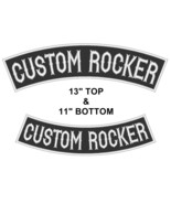 "Custom Embroidered 13"" Top & 11"" Bottom Rocker Biker Sew on Patch (B-1) - $29.45"