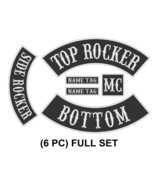 "Custom Embroidered 10"" Set Rocker Patch Biker Patch Club Outlaw Badge_6 PC - $45.35+"