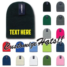 Custom Embroidery Personalized Customized Decky Short Uncuff Beanies Cap Kcs - $12.19+
