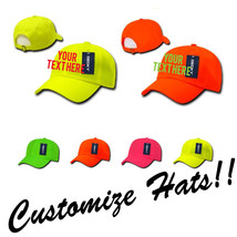 Custom Embroidery Personalized Customized Decky 6 Panel Neon Curved Cap 761 - $17.59+