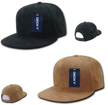 DECKY 6-Panel High Crown Softly Cotton Faux Suede Snapback Cap Hat 1091  - $16.99