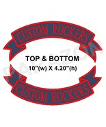 "Custom Embroidered Top and Bottom Rocker Ribbon Patch Biker MC Badge 10""... - $32.26"