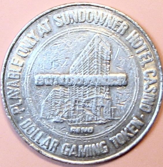 $1 Casino Token. Sundowner, Reno, NV. 1979. D82.