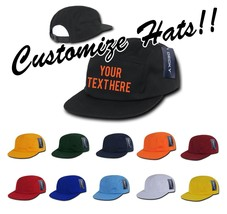 CUSTOM EMBROIDERY Personalized Customized Decky Performance Mesh Racer Cap 1000 - $17.59+