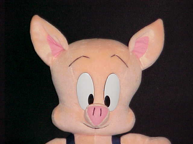 """18"""" HAMTON PIG Plush Toy W/Tags Looney Tiny Tunes By Applause Warner Bros 1990"""