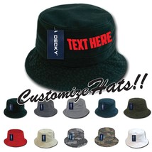 c646e68c CUSTOM EMBROIDERY Personalized Customized Decky Fishermen's Polo Bucket  Hat 961 - $17.59