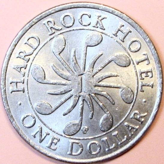 $1 Casino Token. Hard Rock, Las Vegas, NV. GDC Mint. D82.